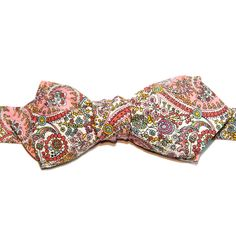 Noeud papillon Liberty of London Kitty Grace vieux rose Le Colonel Moutarde  http://www.lecolonelmoutarde.com