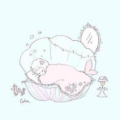 CahoさんはInstagramを利用しています:「ネムネム 人魚姫になって こうやって眠るのが 私の夢でした。 💍 #illustration #イラスト #人魚姫」 Disney Drawings, Cute Drawings, Anime Child, Cute Art Styles, Mermaid Art, Kawaii Art, Drawing Poses, Baby Design, Cute Illustration
