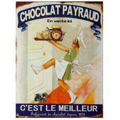 Plaque émaillée Chocolat Payraud - Un air de brocante 15,90€