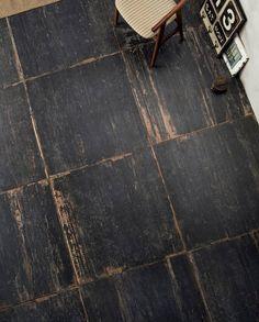 Sant Agostino Blendart Dark 24 x 24 - Sant Agostino Blendart Dark Tile Flooring . Wood Tile Floors, Wood Look Tile, Painted Floors, Kitchen Flooring, Black Wood Floors, Rustic Tile Flooring, Entryway Flooring, Unique Flooring, Slate Flooring