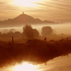 Glastonbury Tor...Right in the heart of cider country in Somerset