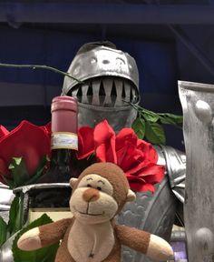 Happy Valentineu0027s Day! Iu0027m Your Knight In Shining Armor With Wine U0026 Flowers