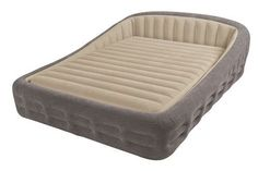 Frame Air Mattress Air bed headboard Inflatable Portable Queen Size 2 People