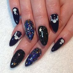 Magical Galaxy #nailart featuring @deborah lippmann Stronger, the most incredible glitter!
