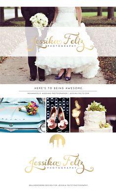 Logo + Layout   Deluxemodern Design for Jessika Feltz Photography.