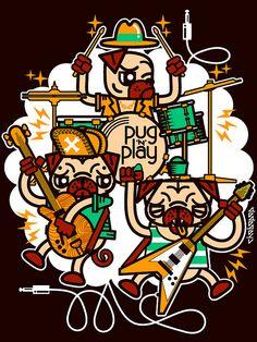 Pug 'n' Play by Chobopop, via Flickr