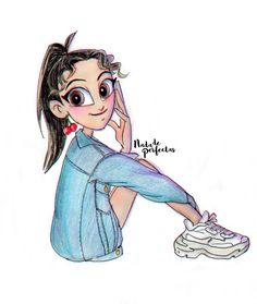 VerónicaReinaldo Cartoon Girl Drawing, Girl Cartoon, Cool Art Drawings, Art Sketches, Emily Mena, Arte Disney, Best Friends Forever, Colored Pencils, Art Girl