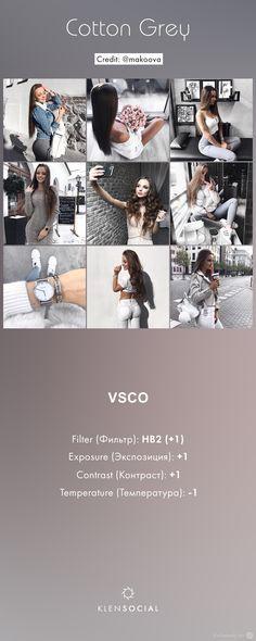 ***Cotton Grey*** Графические настройки VSCO//VSCO inspired presets