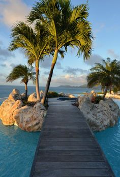 Possibly our only villa pool with its own private island! Belle Etoile, St. Martin.