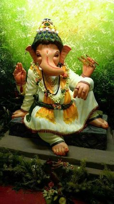 Ganapati in vasudet avtar Jai Ganesh, Ganesh Lord, Shree Ganesh, Clay Ganesha, Ganesha Painting, Ganesha Art, Ganesh Chaturthi Images, Happy Ganesh Chaturthi, Ganesh Bhagwan