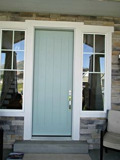 Color isn't just for the walls. Begin it at your front door; try a fresh green to welcome guests.