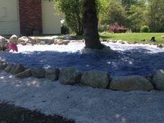 My recycled glass mulch pond