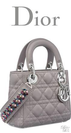 3b6f3ac3ebf6 Brilliant Luxury   Dior Autumn 2016 ~ Mini Lady Dior bag with cannage  topstitching in Montaigne
