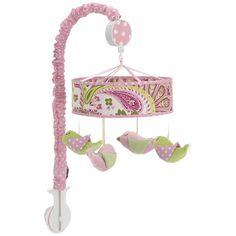Pink and green paisley mobile! BabiesRUs.com