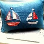 Boats Boats, Cushions, Trending Outfits, Unique Jewelry, Handmade Gifts, Etsy, Vintage, Throw Pillows, Kid Craft Gifts