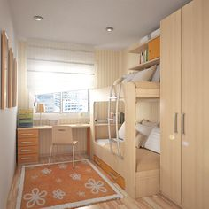 A bunk bed is a popular and effective choice to save some space in a shared kids…