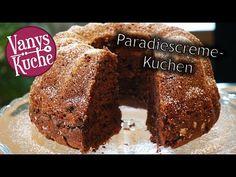 Paradiescreme-Kuchen - Vanys Küche - Rezeptideen mit Videoanleitung Banana Bread, Food And Drink, Baking, Cake, Desserts, Youtube, Baked Goods, Food Food, Quick Cake