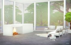 Alachie and Brick Sims: Modern Fireplace • Sims 4 Downloads Check more at http://sims4downloads.net/alachie-and-brick-sims-modern-fireplace/