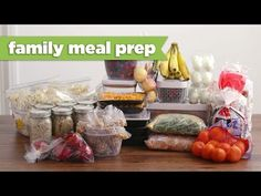 Healthy Family Meal Prep for the Week! - Mind Over Munch - YouTube