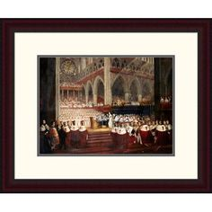 """Global Gallery 'The Coronation of Queen Victoria' by Edmund Thomas Parris Framed Painting Print Size: 19.65"""" H x 24"""" W x 1.5"""" D"""