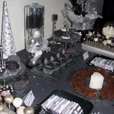Black and silver party