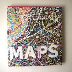 Paula Scher map paintings