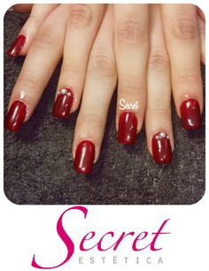 Gel com Nail Art #NEWCOLOR - BordeauxEscuro ;) SECRET, o seu segredo de bem estar!