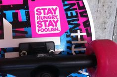 Quote Steve Jobs - Stay Hungry Stay Foolish - vinyl sticker
