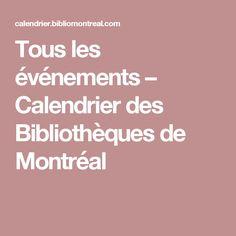 Tous les événements – Calendrier des Bibliothèques de Montréal