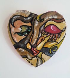 Sono felice di condividere l'ultimo arrivato nel mio negozio #etsy: Heart shaped picture. Two people kissing. One person in the heart. Picasso style. Special gift for art lover. Present wedding. Italian art http://etsy.me/2mjdyLl