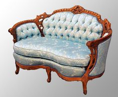 1930s era Antique Carved Walnut French Victorian Style Loveseat  currently at $1250