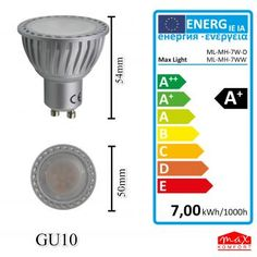 GU10 LED Leuchtmittel 7W warmweiß dimmbar/nicht dimmbar