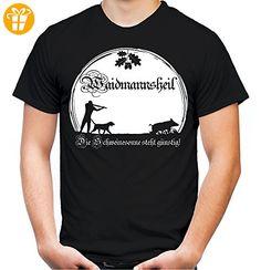 Waidmannsheil T-Shirt | Jagd | Jäger | Wildschwein | Wild | Förster | Männer | Herren | Revier | Keiler | Hirsch | Fun (XL, Schwarz) (*Partner-Link) Partner, Link, Mens Tops, Wild Boar, Hunting, Birthday, Black