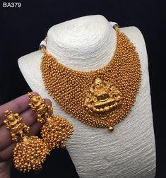Temple jewellery available at Ankh Jewels for booking WhatsApp on Gold Temple Jewellery, Royal Jewelry, India Jewelry, Gemstone Jewelry, Diamond Jewelry, Indian Necklace, Indian Wedding Jewelry, Imitation Jewelry, Gold Set