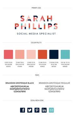 Sarah Phillips Branding by Carli Foot, via Behance