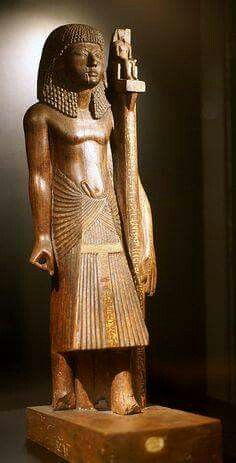 Flag bearer Nebanen. Ancient Egyptian statue