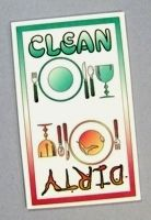 Clean/Dirty dishwasher sign with magnets - I need this for mine!