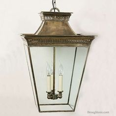 Paa Hanging Lantern Large Light Antique Br