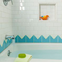 Cute tile idea for a kids' bathroom