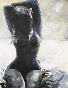 """Saatchi Online Artist: Sara Riches; Acrylic, 2013, Painting """"Cold Love"""""""