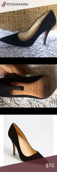 """Kate spade 'licorice too' pump Kate spade, pointed-toe, black suede pump with a 4"""" heel! Has a few scuffs, which I have included pictures of. kate spade Shoes Heels"""