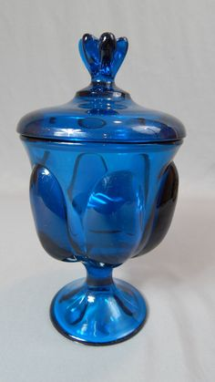 Large Gorgeous Viking Glass Pedestal LIdded by SlyfieldandSime, $48.00