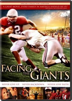 Facing The Giants - DVD  #Christian Films #Christian Movies #Family Films #Family Movies #Dove Approved