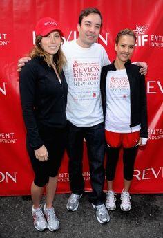Jessica Biel, Jimmy Fallon and Jessica Alba at the EIF Revlon Run/Walk for Women in New York (May 2, 2009)