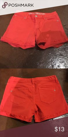 Express shorts Gently worn, bright and vibrant color. Make reasonable offer. Express Shorts