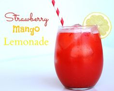 Strawberry Mango Lemonade #Drinks #Summer