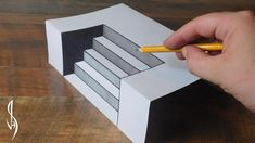 Ultimate Guide on How to Draw Steps - Trick Art For Kids 3d Pencil Drawings, 3d Art Drawing, Drawing Skills, Easy Drawings, Paper Drawing, Drawing Tips, Optical Illusions For Kids, Art Optical, Stair Art