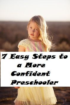 7 Ways to Build Self-Esteem in Kids: Preschool and Kindergartners