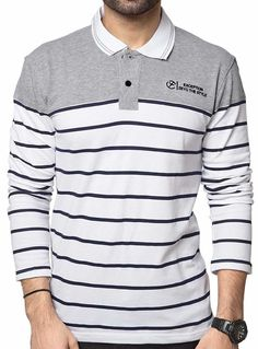 cf2d567d Zeyo Men's Cotton Striped T-Shirt Mens Cotton T Shirts, Polo T Shirts,