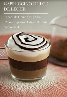 Cappuccino Dulce de Leche   Indulge in this frothy, exquisitely rich chocolate cappuccino creation.